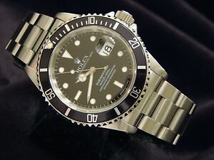 MENS-ROLEX-STAINLESS-STEEL-SUBMARINER-DATE-WATCH-BLACK