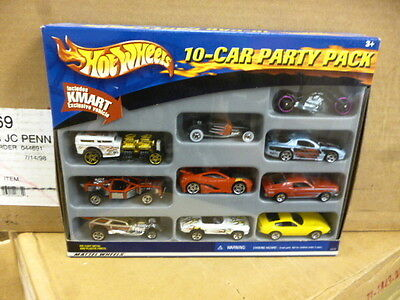 L2 Mattel Hot Wheels 52579 10-car Party Pack Diecast Cars In Box