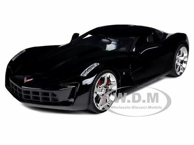 2009 Chevrolet Corvette Stingray Concept Black 1/24 Diecast Model Car Jada 92386