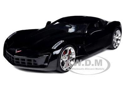 2009 Chevrolet Corvette Stingray Concept Black 1/24 Diecast Model Car Jada 92386