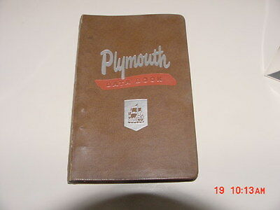 1950 Plymouth P19 P20 Special Deluxe Ross Roy Salesman's POCKET FACTS BOOK
