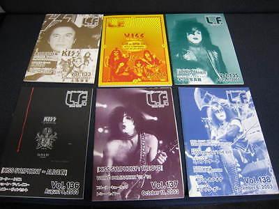 KISS L.F. Vol. 133 - 138 Japan Fanzine Book in 2003 Lot LF