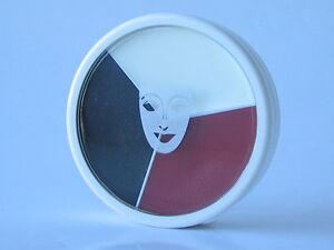 TRI-COLOR-BRUISE-CIRCLE-CLOWN-CREAM-MAKEUP-WHEEL-BLACK-WHITE-RED-1303