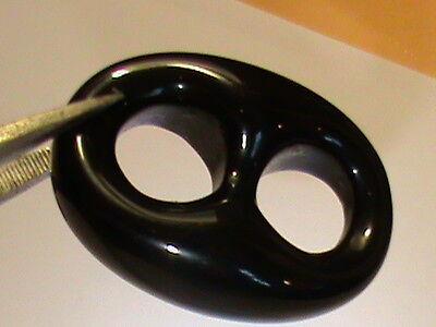 SUPER BIG Carved Black Onyx Anchor Links Unique Unique  6 LINKS