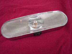 battery operated chrome dome light w switch rv closet home 1 3 4 x7 1 8 ebay. Black Bedroom Furniture Sets. Home Design Ideas