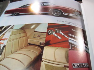 Lincoln Continental 1972  Brochure