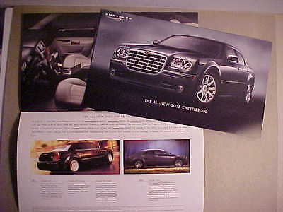 2005 Chrysler 300 Series Introductory Sales Folder Canada