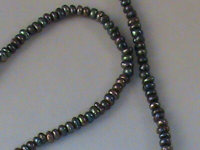Black Seed Pearls 2mm Super Color