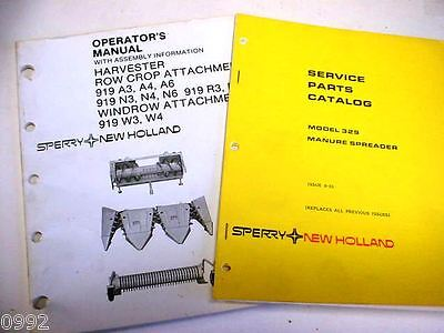 New Holland 329 Manure Spreader And 900 Heads Manuals