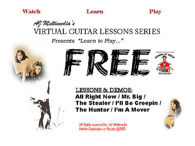 Custom Guitar Lessons, Learn guitar song & riffs of FREE - DVD Video on Rummage