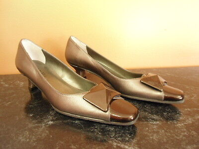 Womens Size 6n Pewter Vaneli Classic Dress High Heel Shoes Pumps