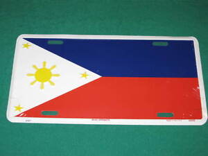 PHILIPPINES FLAG METAL LICENSE PLATE FILIPINO SIGN L051