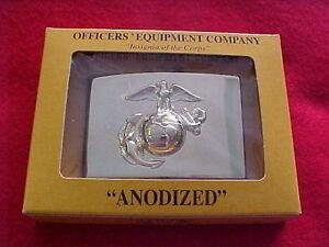 US-Marine-Corps-Belt-buckle-anodized-dress-2-x-3-Emblem-Officers-Equip-Co