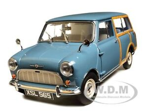 1960-MORRIS-MINI-TRAVELLER-CLIPPER-BLUE-1-12-DIECAST-MODEL-CAR-BY-SUNSTAR-5311