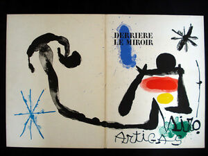 Joan miro derriere le miroir no 139 140 june july 1963 for Miro derriere le miroir