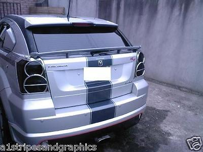"""All Year Dodge Caliber 11"""" Twin Center Rally stripes Stripe Graphics Set"""