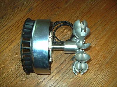 Micro Hydro PMA Generator, Pelton Wheel 1k-3k Watts, 12-36 VDC Motenergy ME1016