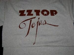 Original Licensed ZZ TOP TEJAS T Shirt Gray ENJOY AND GET IT ON