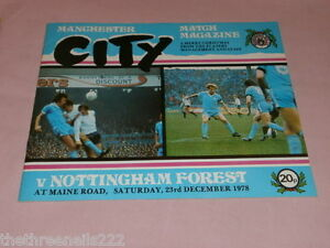 FOOTIE-PROGRAMME-D1-MANCHESTER-CITY-V-NOTTINGHAM-FOREST-23-DEC-1978