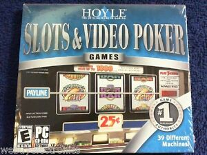 sealed case  Hoyle Slots and Video Poker (PC)  cd-rom  39 machines