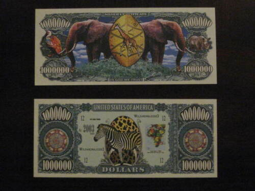 Colorfully Made Very Cool Jungle Animal Novelty Dollar In Display Case Fun Gift