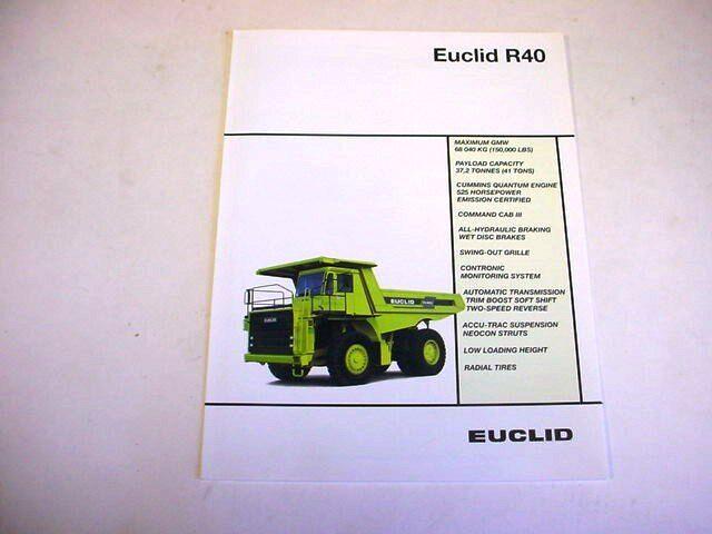 Euclid R40 Hauler Truck Literature