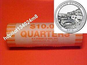 ~~ 2012 P CHACO CULTURE NATIONAL HISTORIC PARK QUARTER ROLLS BU H/T ~~
