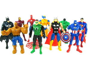 Light up Marvel figures Spider-man Captain America Iron man Hulk Batman Superman