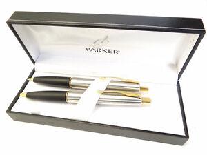 Vintage-Used-Old-Working-Parker-Frontier-Mechanical-Pencil-Pen-Writing-Desk-Set
