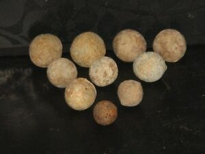 1640s-excellent-collection-of-10-x-Charles-I-English-Civil-War-musket-balls