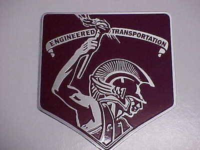 Fruehauf Semi Truck & Trailer logo plate acid etched aluminum 1940s - 1950s
