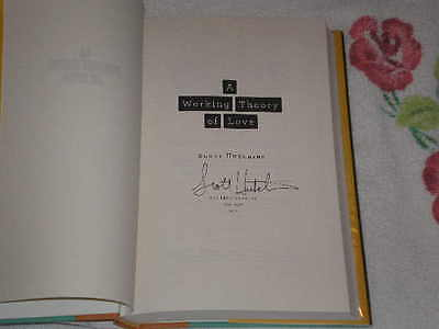 A Working Theory Of Love By Scott Hutchins Signed