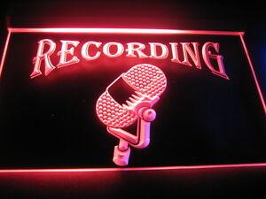 B139-Recording-On-The-Air-Radio-Studio-NEW-Light-Sign