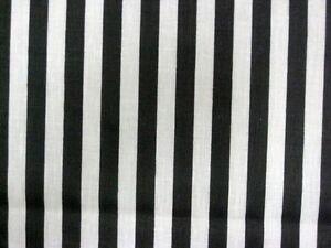 BLACK WHITE NARROW STRIPES REF JAILHOUSE PRISON RAILROAD SEW CRAFT FABRIC BTHY#