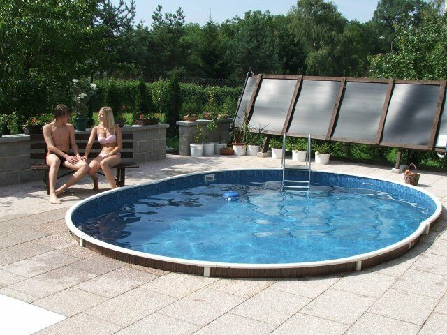 Above ground swimming pool kit 24x12ft oval 3244147976539 ebay for Above ground swimming pool kits