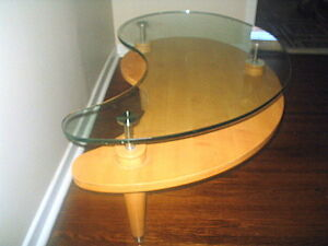 Glass Top Coffee Table Solid Wood Kidney Shaped High End Coffee Tables City Of Toronto Kijiji