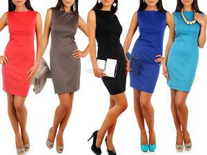 NEW-Womens-Classic-Elegance-Shift-Dress-PencilTunic-Style-Size-8-14-FA15