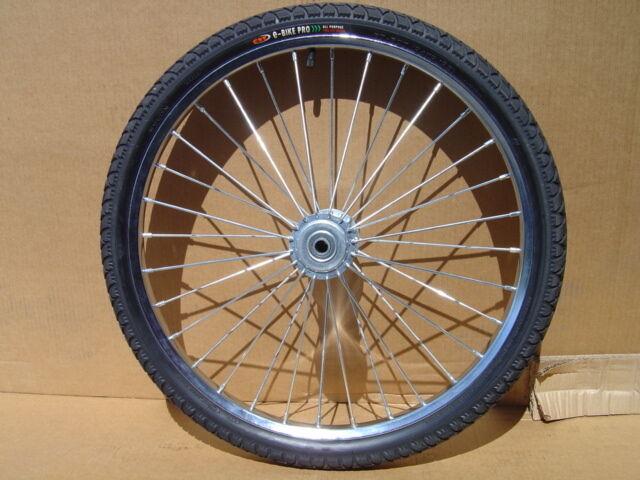 Pair Horse Cart Wheels/tires 24x2.125-5/8axle, 4 Hubs