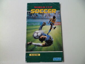 MEGA DRIVE GENESIS SOCCER MANUAL INSTRUCTIONS