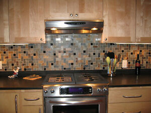 travertine herringbone slate granite mosaic tiles kitchen