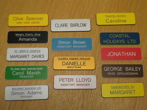 Engraved Name Badges - shops clubs pub schools etc.