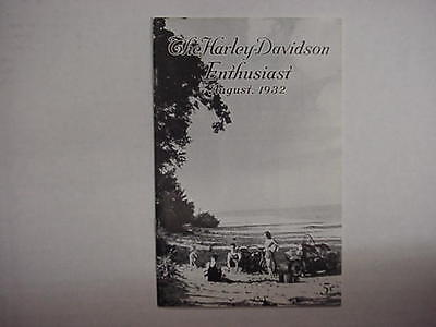 August 1932 The Enthusiast Harley Magazine