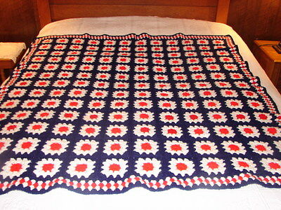 Finished Granny Square Handmade Handcrafted Crochet Afghan Throw Blanket