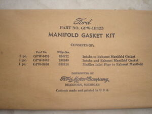 Ford-GPW-18323-Manifold-Gasket-Kit-3-gaskets-marked-with-the-F-mania-RARE
