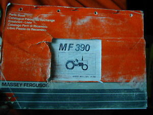 MASSEY FERGUSON MF390 TRACTOR PARTS BOOK c1993 Dianella Stirling Area Preview