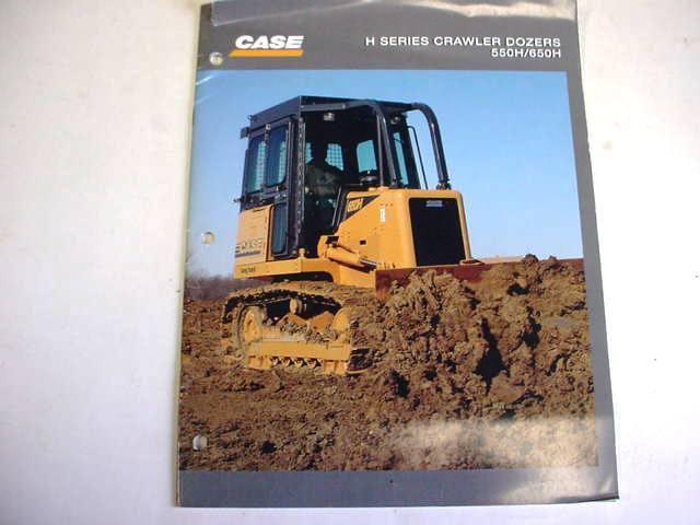 Case  550H & 650H Crawler Dozer Color Brochure