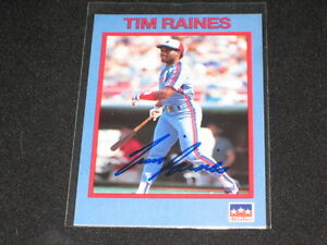 TIM-RAINES-EXPOS-STARLINE-SIGNED-AUTOGRAPHED-AUTHENTIC-BASEBALL-CARD-LEGEND