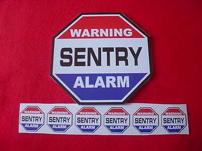 Sentry Security Home Alarm Sign + 6 Decals -- A Name To Trust For Home Security