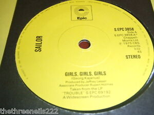 VINYL-7-SINGLE-SAILOR-GIRLS-GIRLS-GIRLS-S-EPC-3858