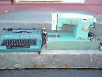 ON-LINE YARD SALE:Old style typewriter & sewing machine